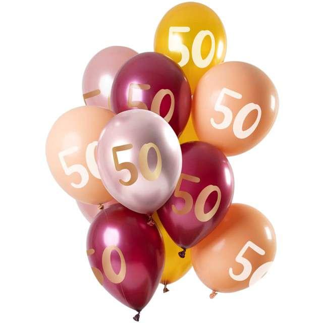 Balony 50 Urodziny mix Folat 12 12 szt