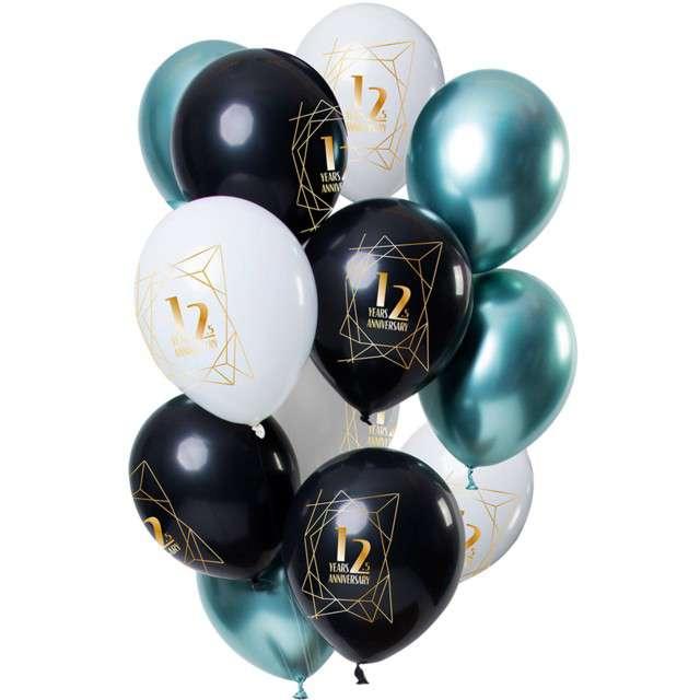 """Balony """"12,5 rocznica"""", mix, Folat, 12"""", 12 szt."""