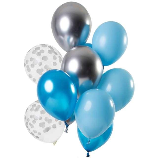 """Balony """"Dekoracyjny niebieski mix"""", mix, Folat, 12"""", 12 szt"""