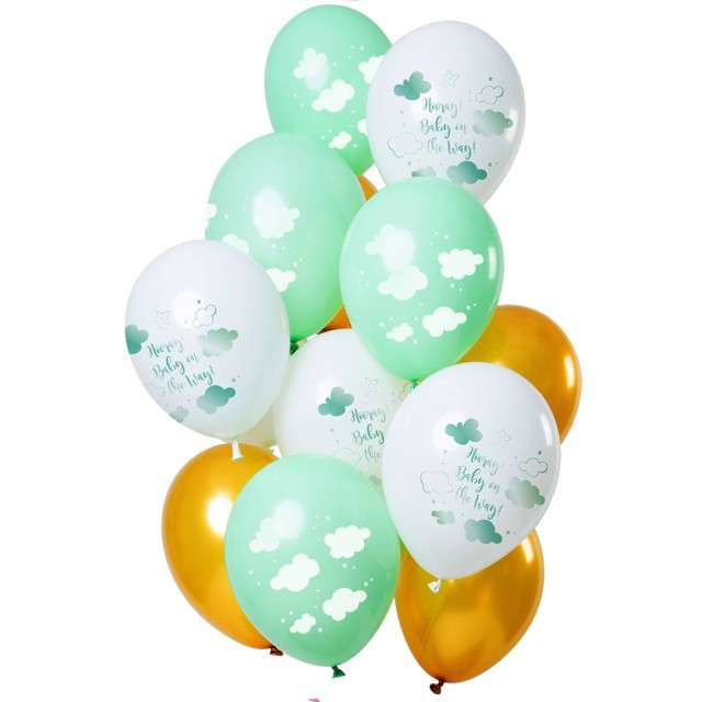 "Balony ""Baby Shower Unisex"", mix, Folat, 12"", 12 szt"