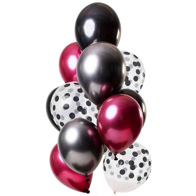 """Balony """"Dekoracyjny ciemny mix"""", mix, Folat, 12"""", 12 szt"""