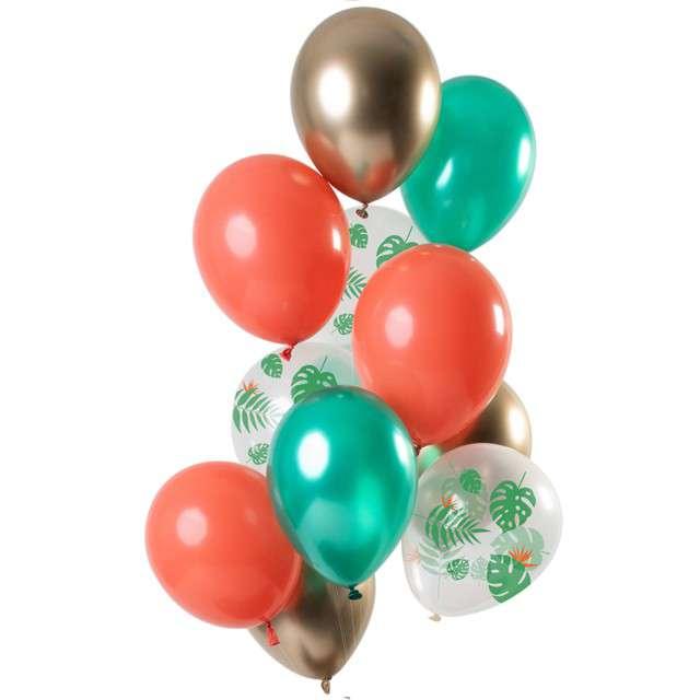 """Balony """"Dekoracyjny zielony mix"""", mix, Folat, 12"""", 12 szt"""