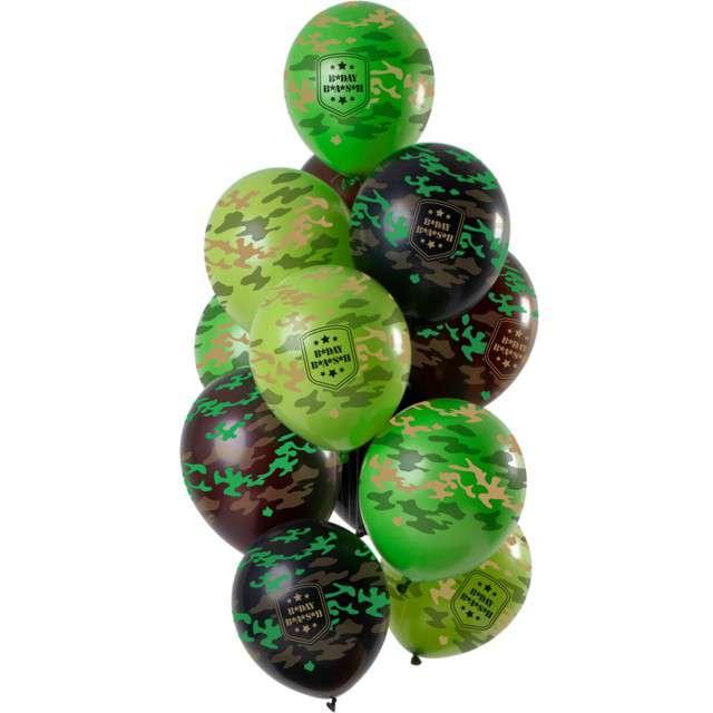 """Balony """"B Day Bash- kamuflaż moro"""", mix, Folat, 12"""", 12 szt"""