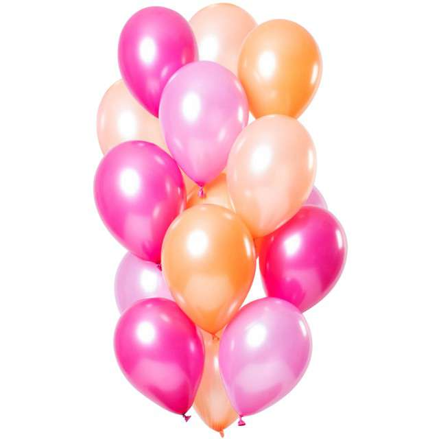 """Balony """"Flamingo Metallic"""", mix, Folat, 12"""", 15 szt"""
