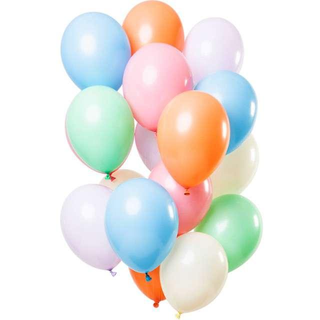 """Balony """"Pretty Pastel"""", mix, Folat, 12"""", 15 szt"""