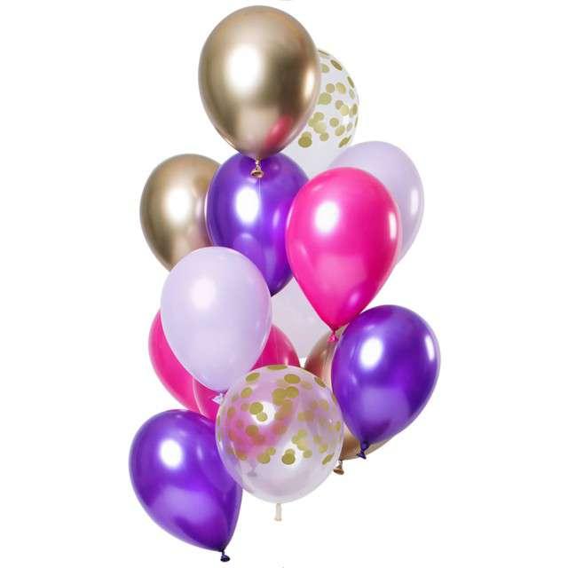 "Balony ""Dekoracyjny fioletowy mix"", mix, Folat, 12"", 12 szt"