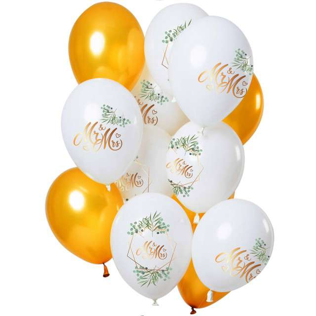 "Balony ""Mr and Mrs"", Folat, 12"", 12 szt"