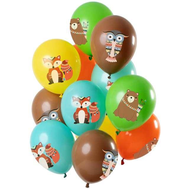 """Balony """"Leśne zwierzątka"""", mix, Folat, 12"""", 12 szt"""