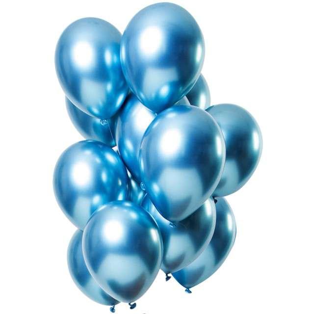 """Balony """"Shiny Blue"""", niebieski, Folat, 13"""", 12 szt"""