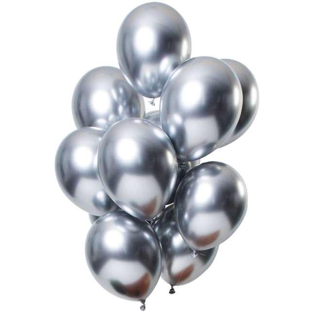 """Balony """"Shiny Silver"""", srebrny, Folat, 13"""", 12 szt"""