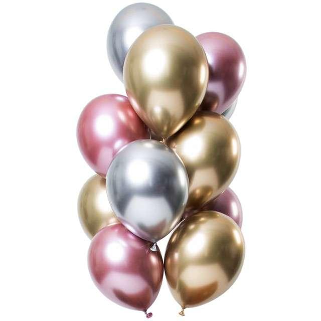 """Balony """"Shiny Morganite"""", mix, Folat, 12"""", 12 szt"""