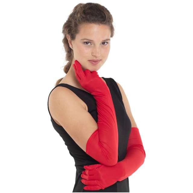 """Rękawiczki """"Deluxe"""", czerwone, Widmann"""