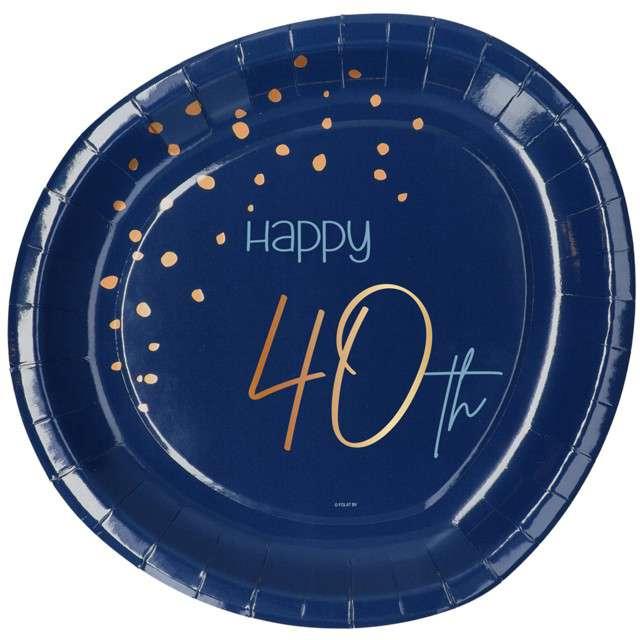"""Talerzyki """"Elegant - Happy Birthday 40"""", Folat"""