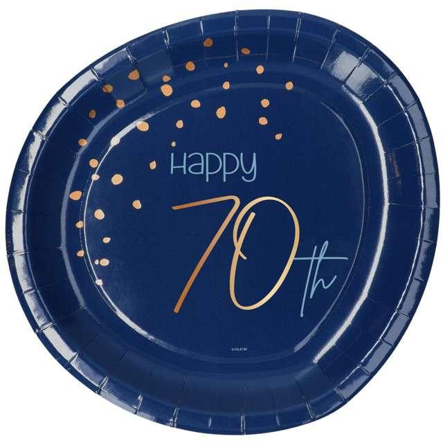 """Talerzyki """"Elegant - Happy Birthday 70"""", Folat"""