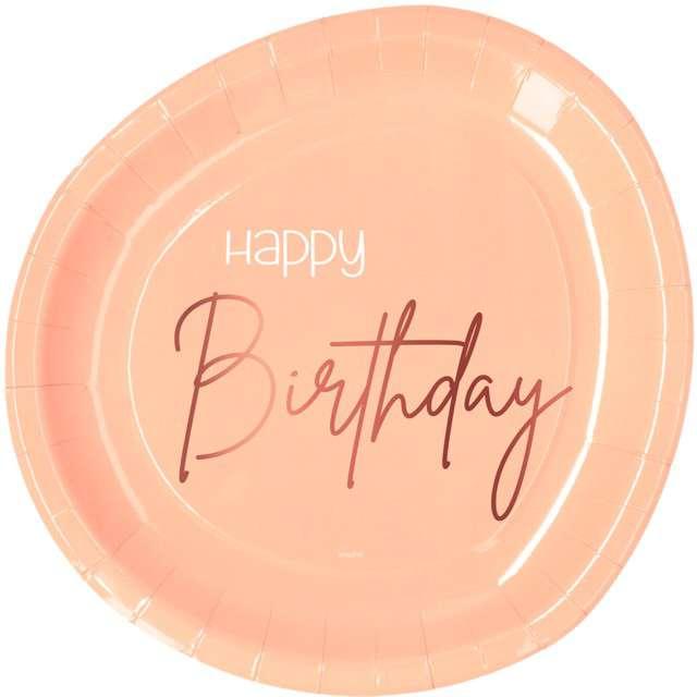 """Talerzyki """"Elegant - Happy Birthday"""", różowe, Folat"""