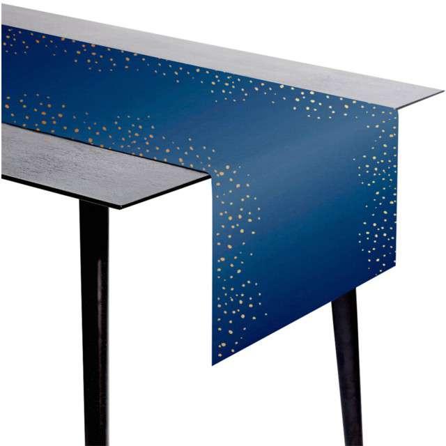 """Bieżnik """"Elegant - True Blue"""", Folat, 240x40 cm"""