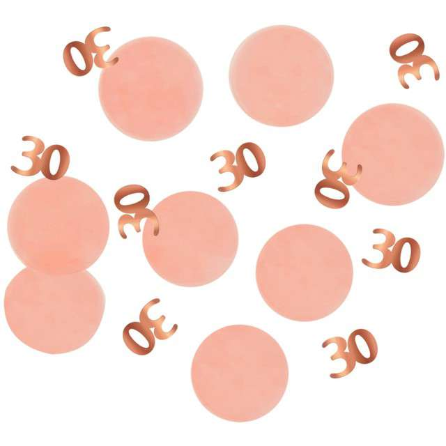 """Konfetti """"30 - Urodziny"""", różowo-złote, Folat, 25g"""