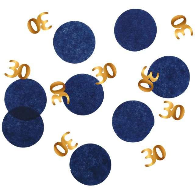 """Konfetti """"30 - Urodziny"""", niebiesko-złote, Folat, 25g"""
