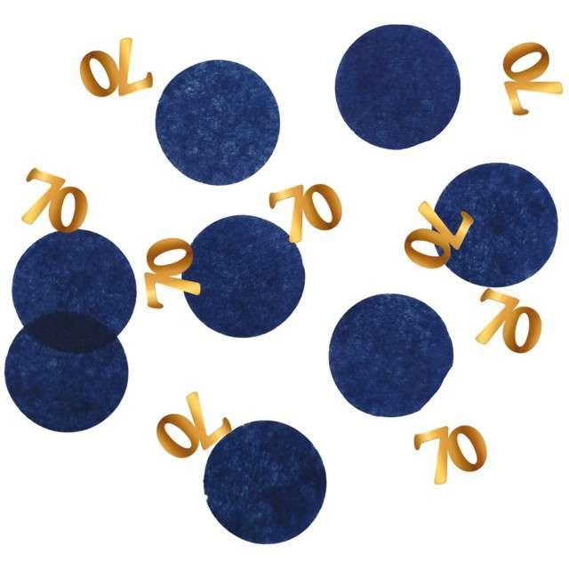 """Konfetti """"70 - Urodziny"""", niebiesko-złote, Folat, 25g"""