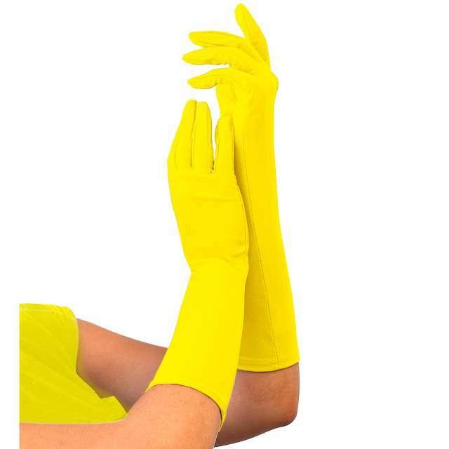 """Rękawiczki """"Classic Neon"""", żółte, Widmann"""