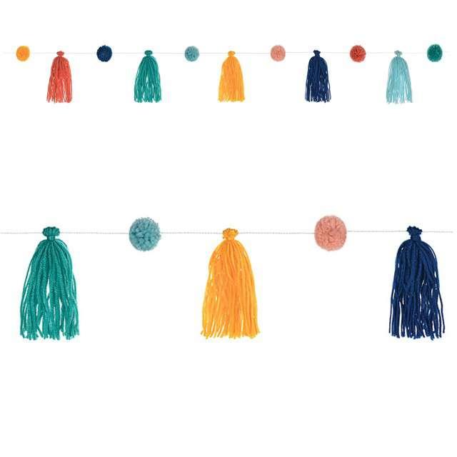 "Girlanda ""Frędzle z pomonami"", Amscan, 329 cm"