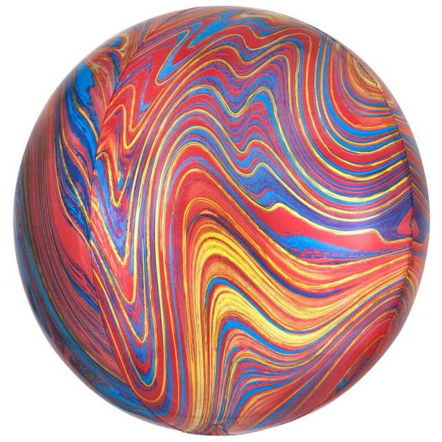 Balon foliowy Kula Marmurek kolorowy Amscan 15 ORB