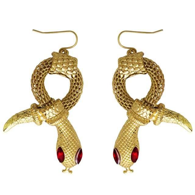 """Kolczyki """"Złote Węże z oczami"""", Widmann"""