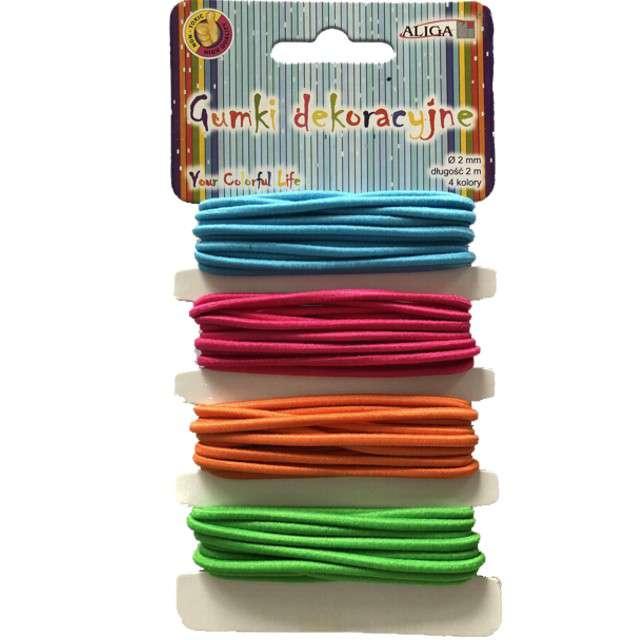"Gumki dekoracyjne ""Classic"", neon, 4 kolory, Aliga"