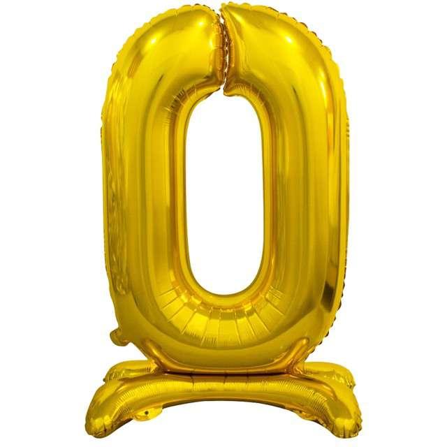 Balon foliowy Cyfra 0 stojąca ZŁOTY Godan 29