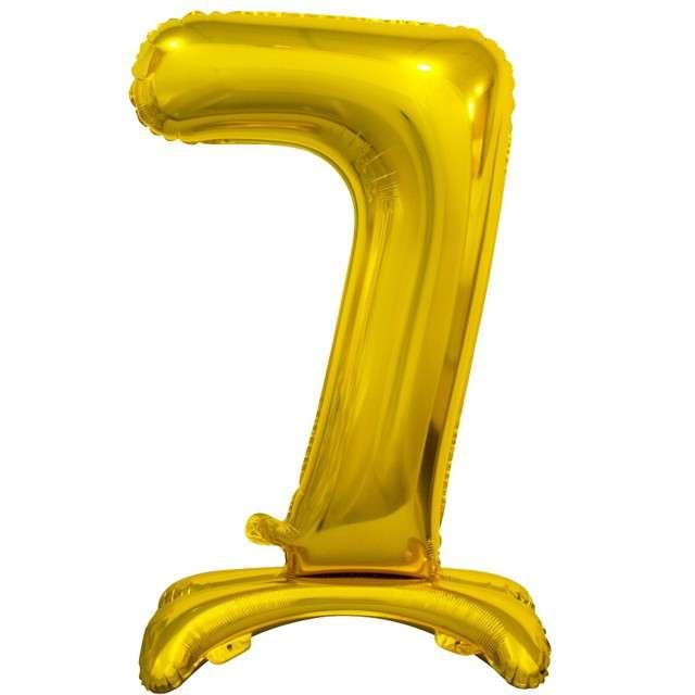 """Balon foliowy """"Cyfra 7 stojąca"""", złoty, Godan, 29"""""""