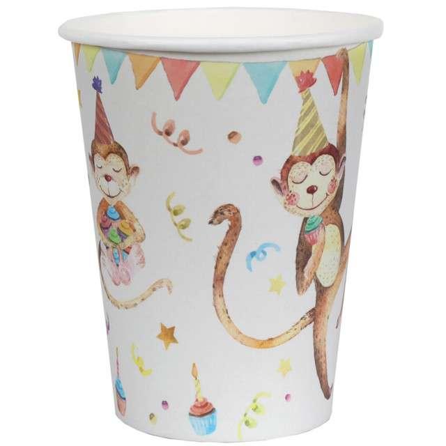 """Kubeczki papierowe """"Zoo - Urodziny"""", Santex, 250 ml, 10 szt"""