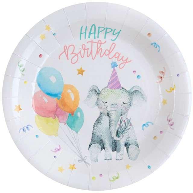 """Talerzyki papierowe """"ZOO - Urodziny"""", Santex, 22,5 cm, 10 szt"""