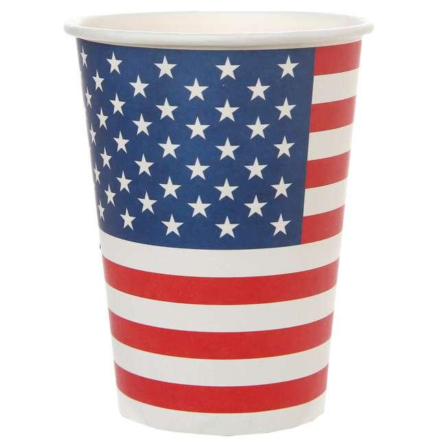 """Kubeczki papierowe """"USA Party"""", Santex, 250 ml, 8 szt"""