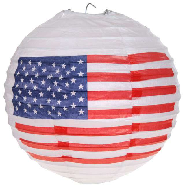 "Lampion papierowy ""USA Party"", Santex,  20 cm"