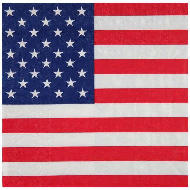 "Serwetki ""USA Party"", Santex, 33 cm,  20 szt"