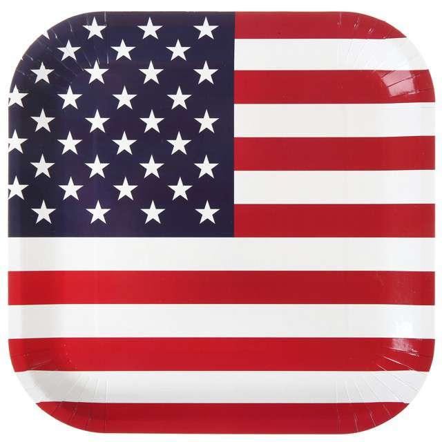 """Talerzyki papierowe """"USA Party"""", Santex, 23 x 23 cm"""