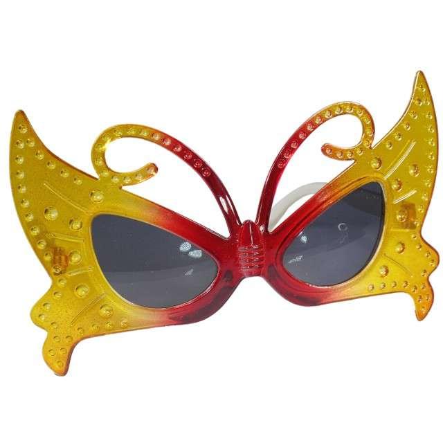 """Okulary party """"Motyl żółto czerwony"""", Tamipol"""