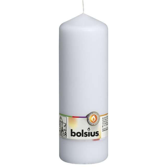 """Świeca pieńkowa """"Classic Long"""", biała, Bolsius, 200/68mm"""