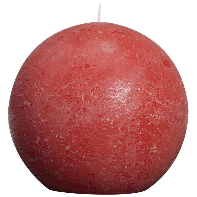 """Świeca """"Rustic Kula"""", 145mm, czerwona, Bolsius"""