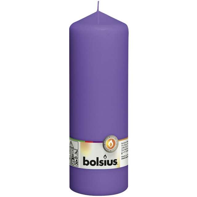 """Świeca pieńkowa """"Classic Long"""", fioletowa, Bolsius, 200/68mm"""
