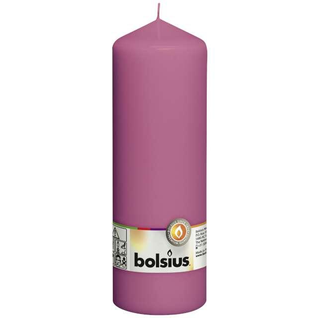 "Świeca pieńkowa ""Classic Long"", fuksja, Bolsius, 200/68mm"