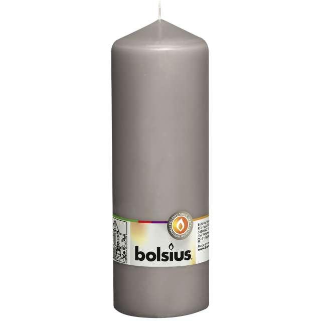 "Świeca pieńkowa ""Classic Long"", szara ciepła, Bolsius, 200/68mm"
