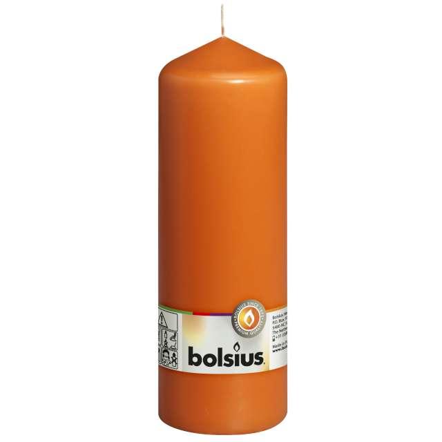 """Świeca pieńkowa """"Classic Long"""", pomarańczowy, Bolsius, 200/68mm"""