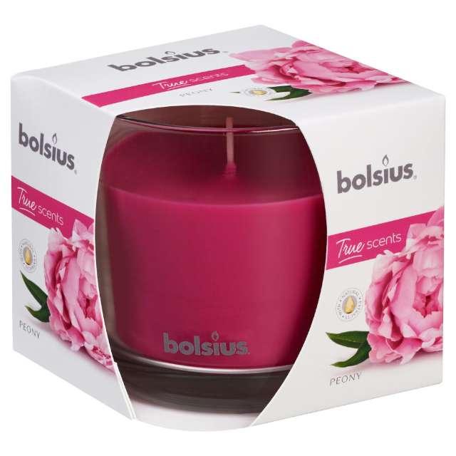 """Świeca zapachowa w szkle """"Piwonia"""", Bolsius, 9,5 cm"""