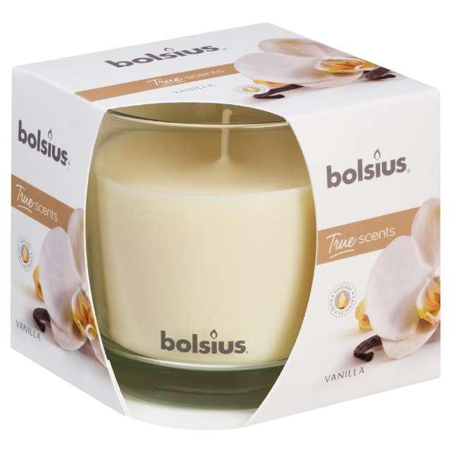 """Świeca zapachowa w szkle """"Wanilla"""", Bolsius, 9,5 cm"""