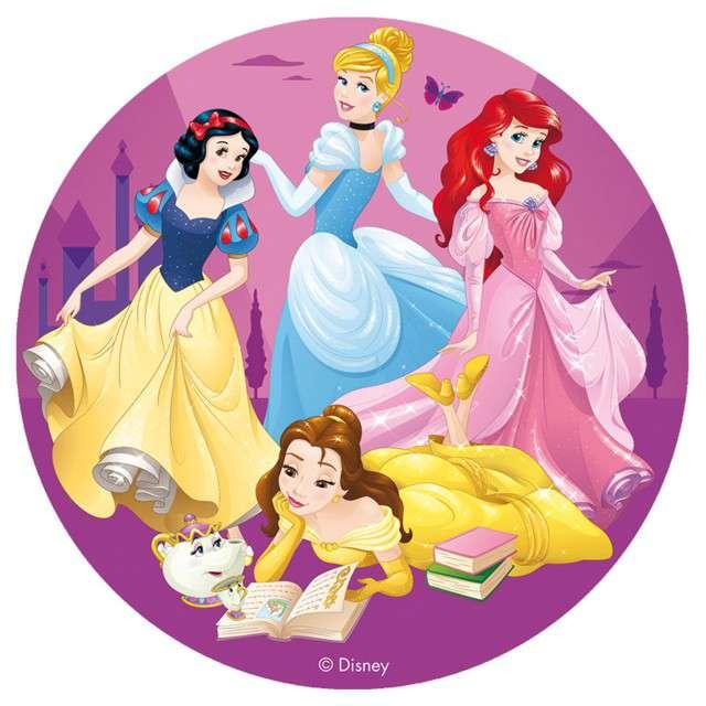Dekoracja tortu - opłatek Księżniczki Disneya 16 cm Dekora