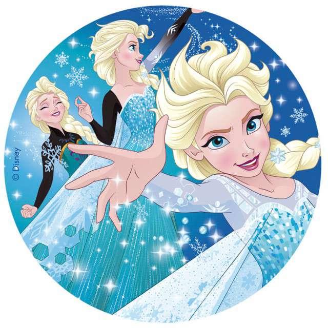 """Dekoracja tortu - opłatek """"Frozen"""", 16 cm, Dekora"""
