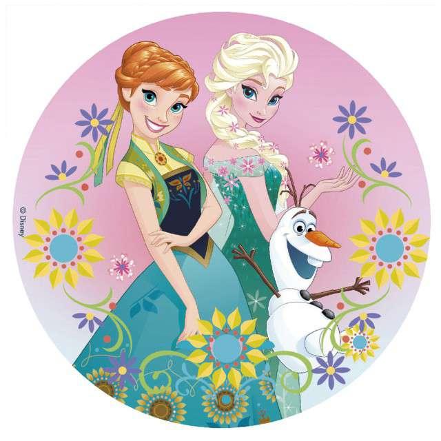 """Dekoracja tortu - opłatek """"Frozen"""", 20 cm, Dekora"""