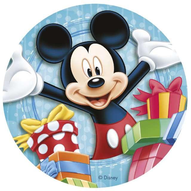 """Dekoracja tortu - opłatek """"Myszka Mickey"""", 20 cm, Dekora"""