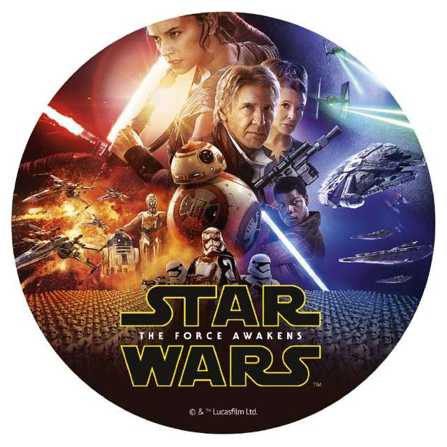 "Dekoracja tortu - opłatek ""Star wars"", 20 cm, Dekora"